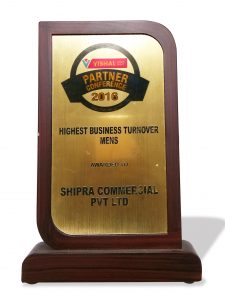 Shipra Preferred Partner Award from V Mart in 2016